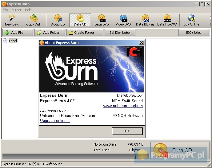 nero express free download dobre programy